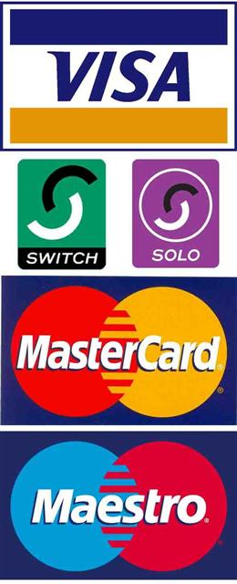 We accept all major UK credit & debit cards